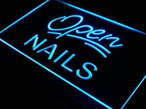 Nail Salon Open Neon Sign (LED)-Way Up Gifts