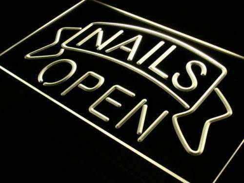 Nails Open LED Neon Light Sign - Way Up Gifts
