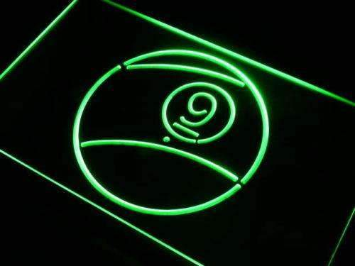 Nine Ball Billiards LED Neon Light Sign - Way Up Gifts