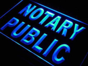 Notary Public Office Neon Sign (LED)-Way Up Gifts
