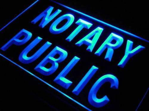 Notary Public Office LED Neon Light Sign - Way Up Gifts
