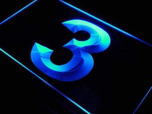 Number Three LED Neon Light Sign - Way Up Gifts