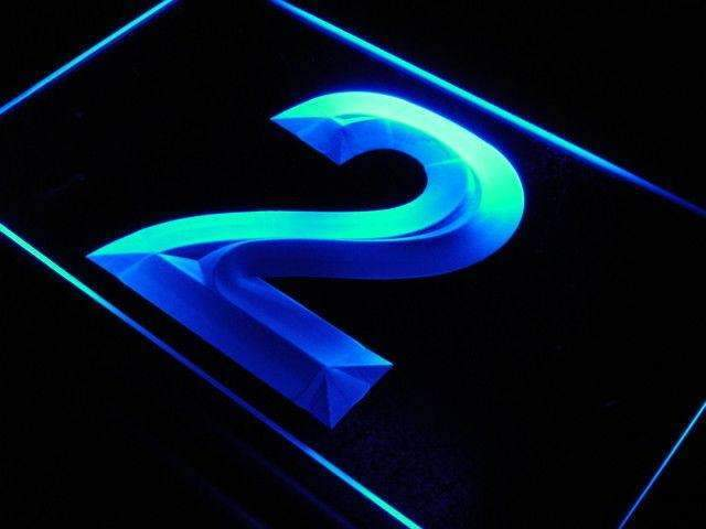 Number Two LED Neon Light Sign - Way Up Gifts