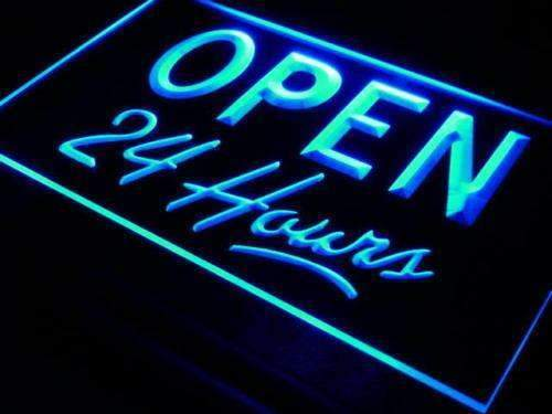 Open 24 Hours LED Neon Light Sign - Way Up Gifts