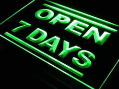 Open 7 Days LED Neon Light Sign