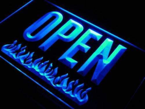 Open Bar Grill LED Neon Light Sign - Way Up Gifts