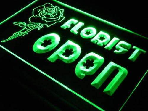 Open Florist LED Neon Light Sign - Way Up Gifts