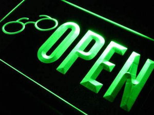 Open Glasses Sunglasses Neon Sign (LED)-Way Up Gifts