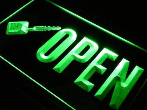 Open Key Cutting LED Neon Light Sign - Way Up Gifts