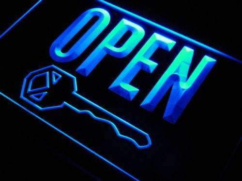 Open Keys Key Cutting LED Neon Light Sign - Way Up Gifts