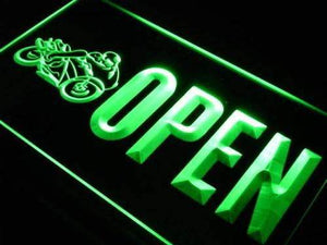 Open Motorcycles Neon Sign (LED)-Way Up Gifts