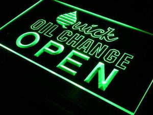 Open Quick Oil Change Neon Sign (LED)-Way Up Gifts
