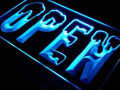 Open Snowboard Ski Shop LED Neon Light Sign