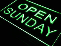 Open Sunday LED Neon Light Sign