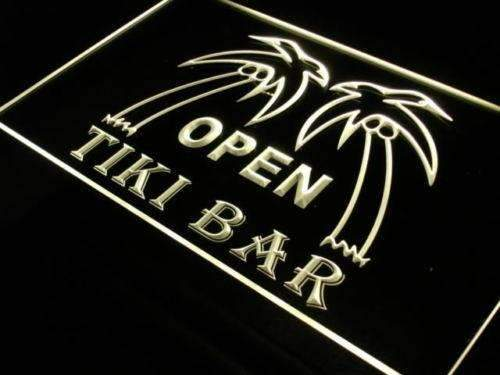 Open Tiki Bar LED Neon Light Sign - Way Up Gifts