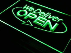 Open We Deliver LED Neon Light Sign