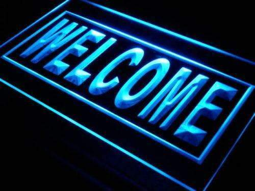 Open Welcome LED Neon Light Sign - Way Up Gifts