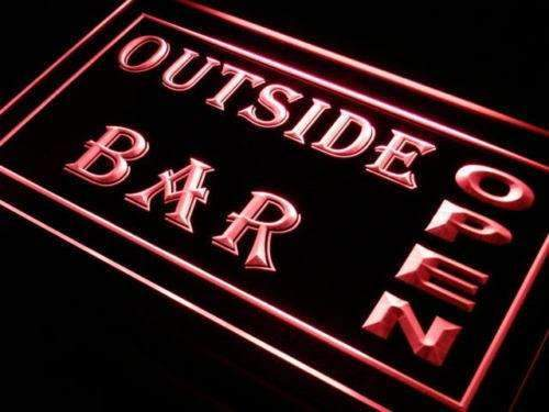 Outside Bar Open LED Neon Light Sign - Way Up Gifts