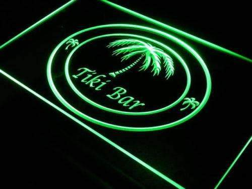 Palm Trees Tiki Bar LED Neon Light Sign - Way Up Gifts