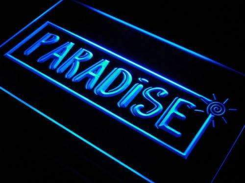 Paradise Beach House Decor LED Neon Light Sign - Way Up Gifts