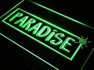 Paradise Beach House Decor Neon Sign (LED)-Way Up Gifts