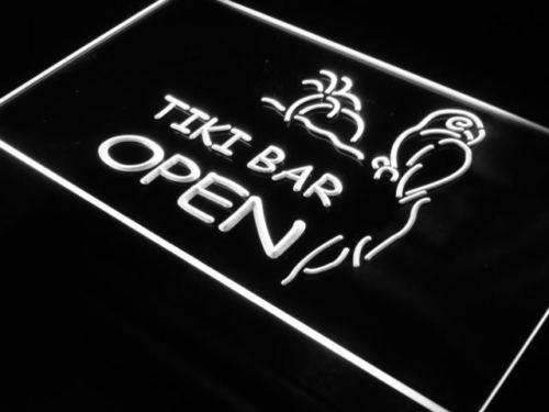 Parrot Tiki Bar Open LED Neon Light Sign - Way Up Gifts