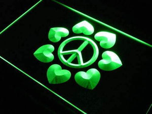 Peace and Love Decor Neon Sign (LED)-Way Up Gifts