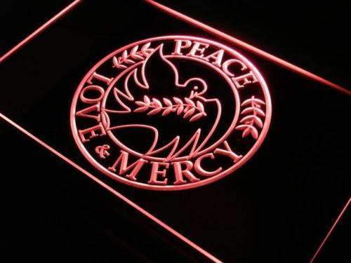 Peace Love Mercy LED Neon Light Sign - Way Up Gifts