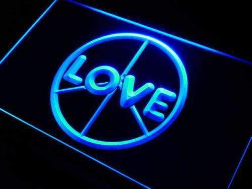 Peace Love LED Neon Light Sign - Way Up Gifts