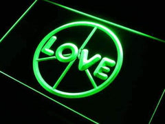 Peace Love LED Neon Light Sign