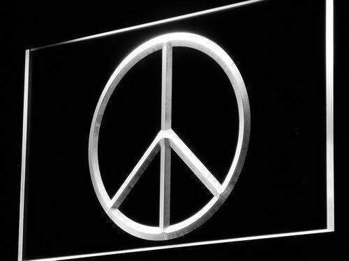 Peace Symbol LED Neon Light Sign - Way Up Gifts
