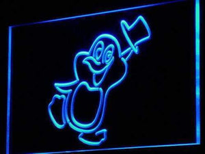 Penguin Cartoon Neon Sign (LED)-Way Up Gifts