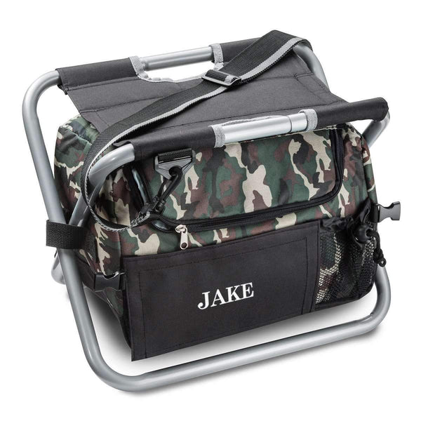 Personalized Camo Outdoor Folding Chair (Beer Cooler Seat)  Personalized Gifts - Way Up Gifts