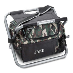 Personalized Camo Outdoor Folding Chair (Beer Cooler Seat)
