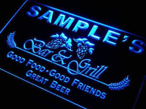 Personalized Bar and Grill Restaurant Neon Sign (LED)-Way Up Gifts