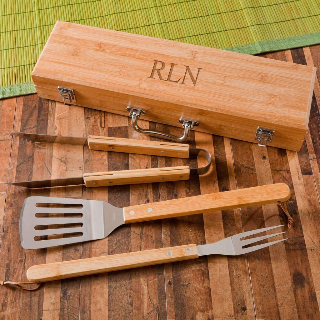 Engraved BBQ Grill Accessories/Utensils Set