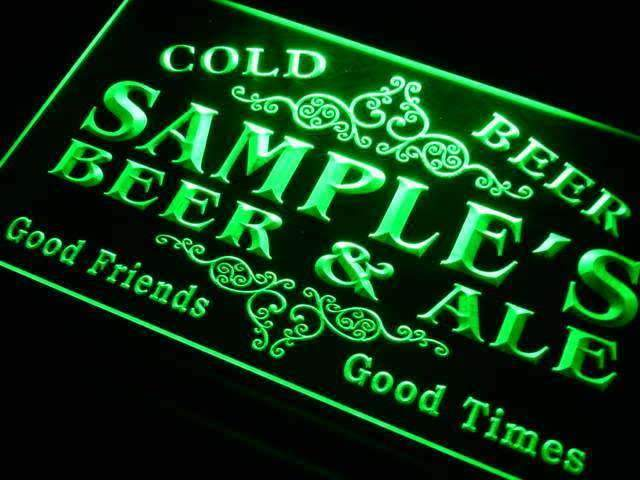 Personalized Beer Ale LED Neon Light Sign - Way Up Gifts