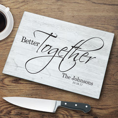 Personalized Glass Cutting Board | Better Together