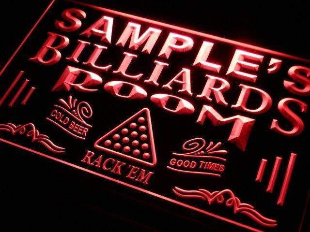 Personalized Billiards Man Cave LED Neon Light Sign - Way Up Gifts