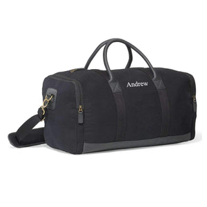 Personalized Black Duffle Travel Bag