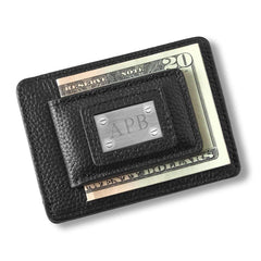 Engraved Black Money Clip Wallet