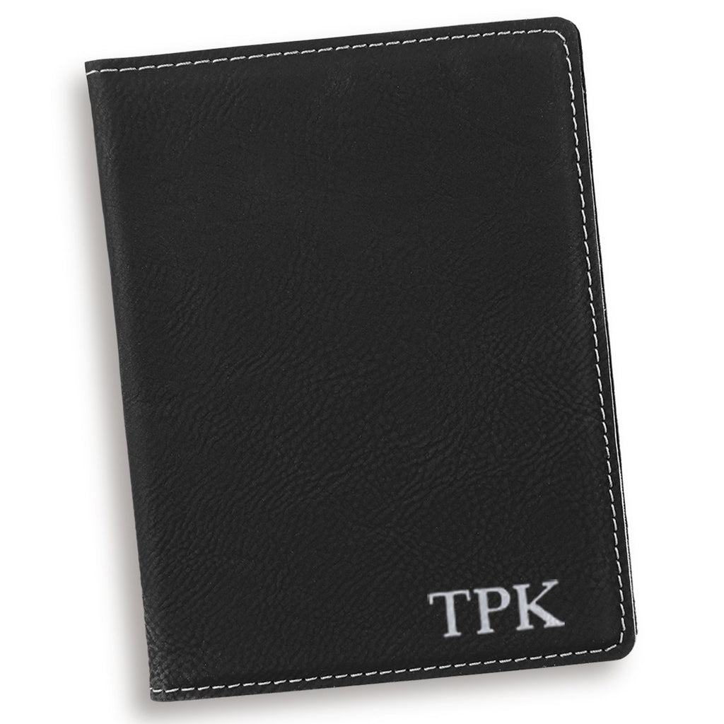 Personalized Black Passport Cover