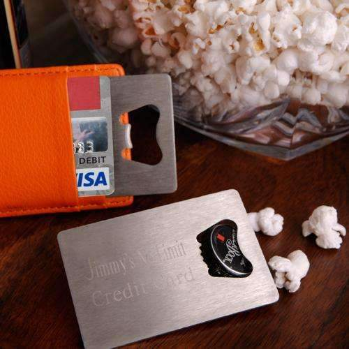 Engraved Credit Card Bottle Opener - Way Up Gifts