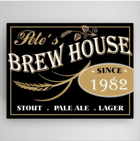 Personalized Brew House Canvas - Way Up Gifts