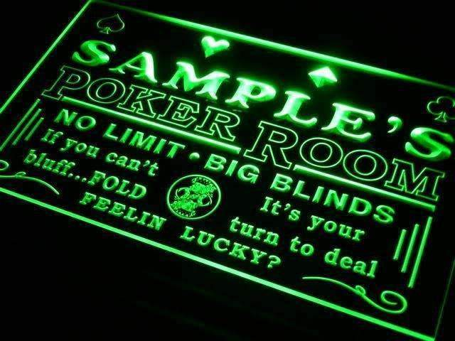 Personalized Casino Poker Room LED Neon Light Sign - Way Up Gifts
