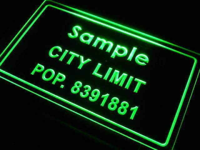 Personalized City Limit LED Neon Light Sign - Way Up Gifts
