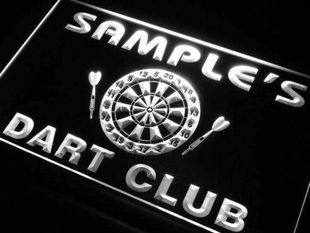 Personalized Dart Club LED Neon Light Sign - Way Up Gifts
