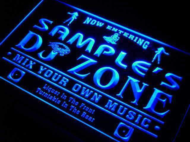 Personalized DJ Zone LED Neon Light Sign - Way Up Gifts