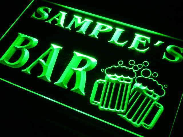 Personalized Double Mug Bar LED Neon Light Sign - Way Up Gifts