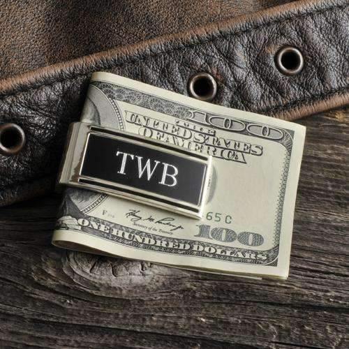 Engraved Modern Money Clip - Way Up Gifts